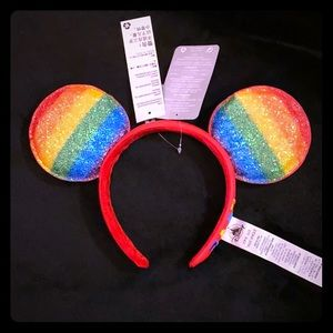 Walt Disney World Mickey Ears Pride Love Rainbow